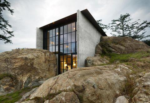 La Casa Nella Roccia.La Casa Moderna Nella Roccia La Pierre Firmata Olson Kundig