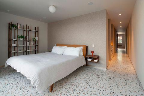 casa inspiración estilo mid century dormitorio