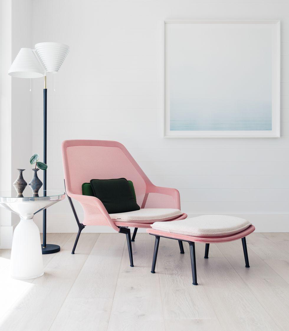 粉色休闲椅空间