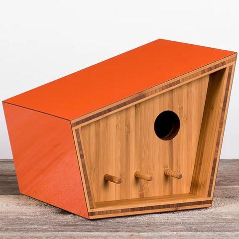 casa para pájaros de diseño mid century