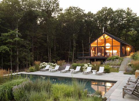 casa pasiva con piscina