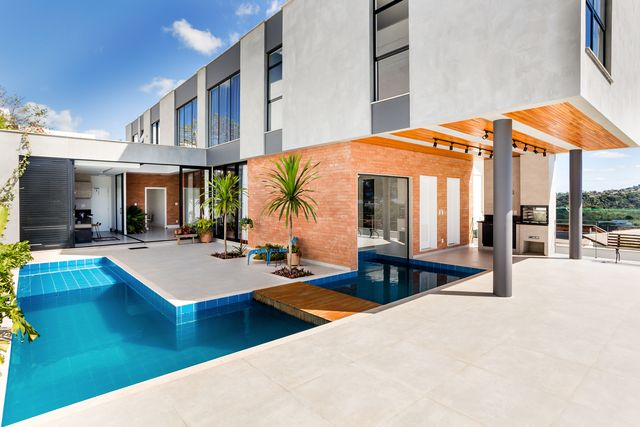 casa en brasil arquitectura moderna piscina