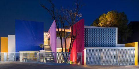 Casa Tec Mexico, architectuur, interieur, kleurrijk huis