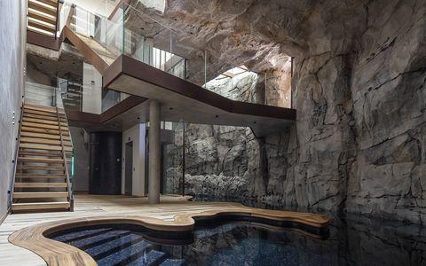 Casa Villa Troglodita Monaco Jean-Pierre Lott Architecte