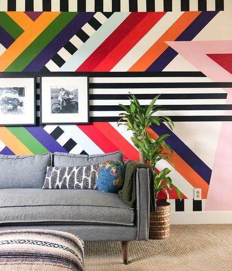 Casa de campo familiar decorada con color en Vancouver