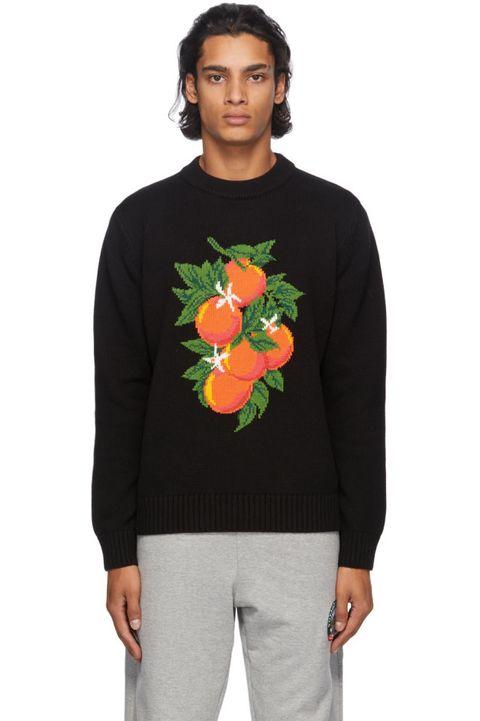 black 'fleur de l'oranger' sweater