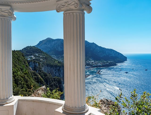 view of the island of capri from villa lysis, capri, italy photo by kevin britlandeducation imagesuniversal images group via getty images