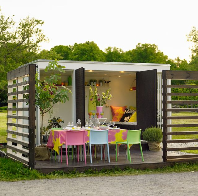 caseta moderna de jardín