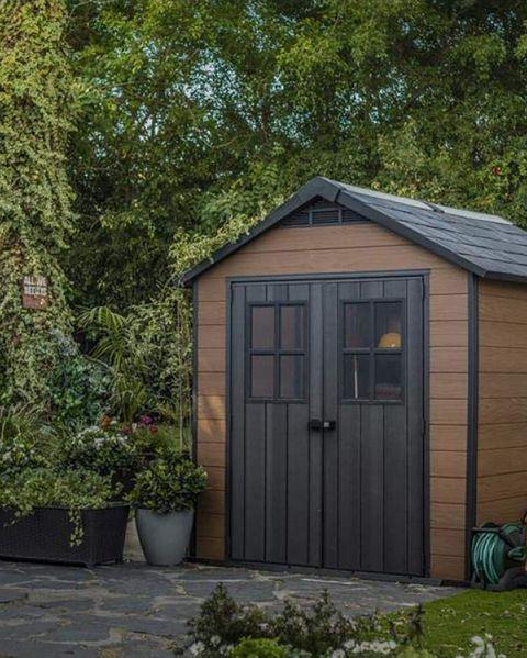 caseta de jardín modelo newton de keter, a la venta en el corte inglés