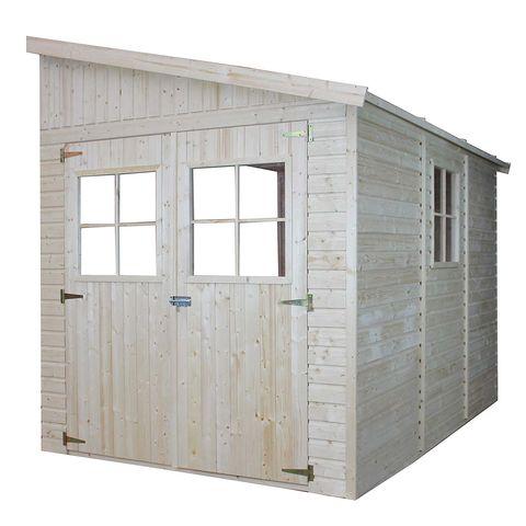 caseta para jardín de madera para adosar