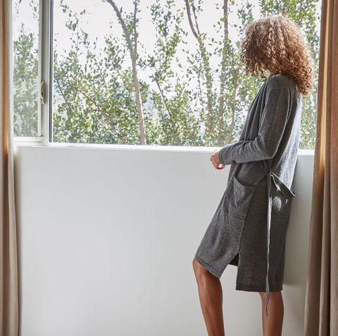 White, Clothing, Window, Dress, Fashion, Outerwear, Room, Waist, Interior design, Shoulder,