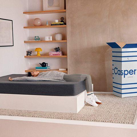 Furniture, Room, Shelf, Wall, Bedroom, Interior design, Floor, Material property, Bed, Shelving,