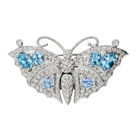 Butterfly, Fashion accessory, Brooch, Insect, Jewellery, Moths and butterflies, Body jewelry, Silver, Silver, Diamond,