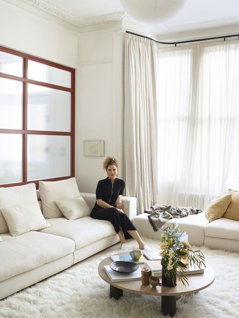 the living room of cassandra stavrou's london home