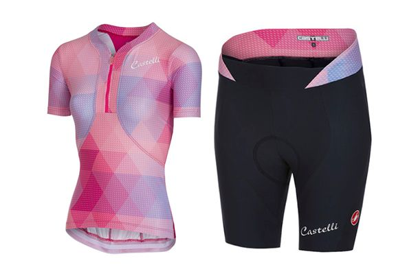 Castelli Alba jersey and Alba shorts
