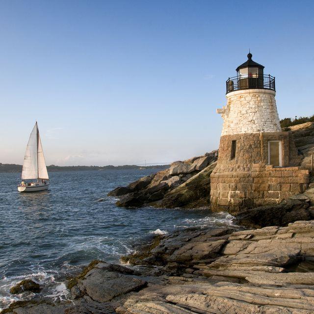 castle hill lighthouse, newport rhode island
