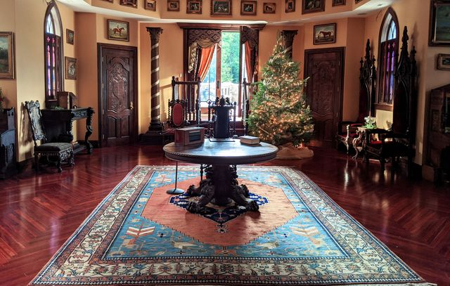 """a set photo from """"one royal holiday,"""" a hallmark christmas film"""