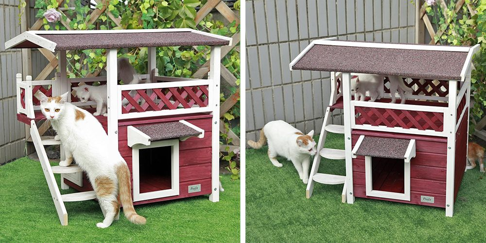 Your Cat Called And Said They Want This 2-Story Pet House On Amazon