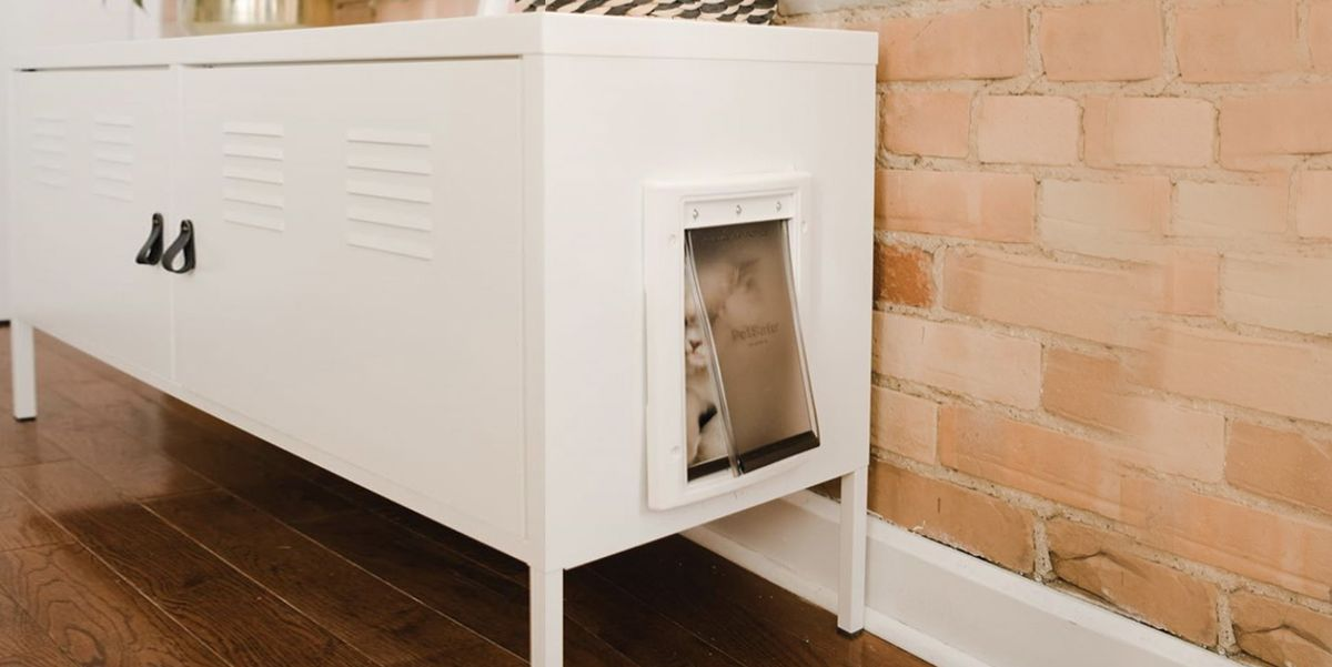 Here S A Shockingly Simple Way To Hide Your Cat S Litter Box Diy Cabinet That Hides Cat Litter Box