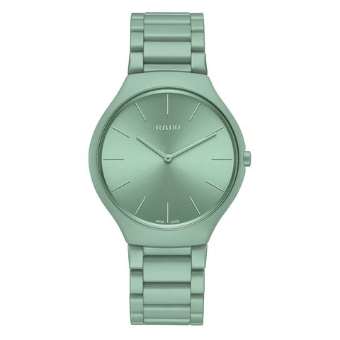 Watch, Analog watch, Watch accessory, Green, Fashion accessory, Product, Jewellery, Strap, Material property, Metal,