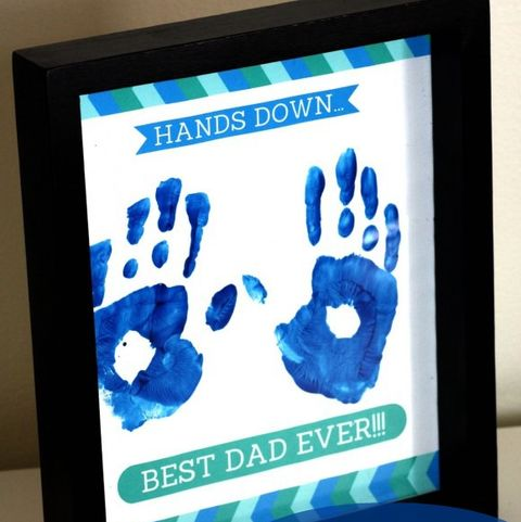 vfather's day crafts preschool catch my party hands down best dad ever frame