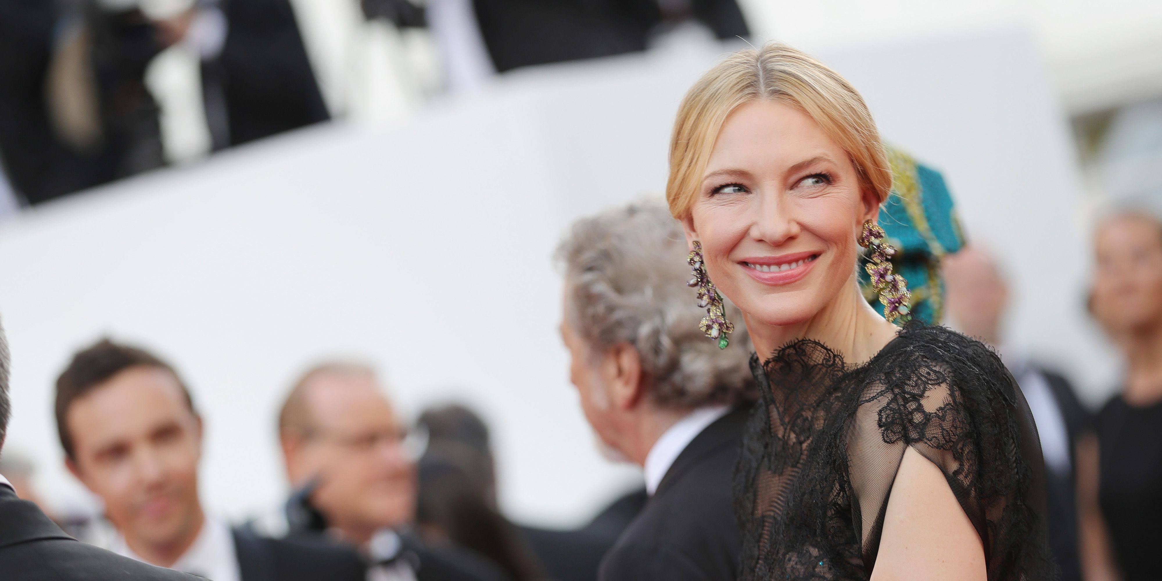 23186b6d8523 Cate Blanchett re-wears her 2014 Golden Globes dress for Cannes opening  ceremony