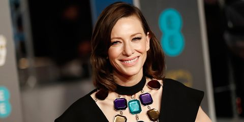 Cate Blanchett's brunette hair at the BAFTAs 2019