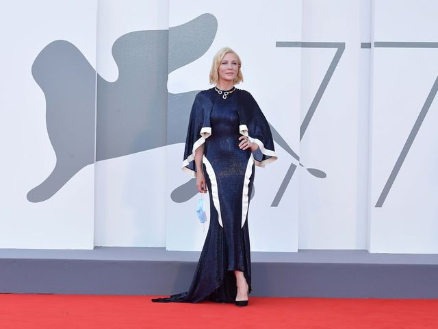 """venice, italy   september 02 cate blanchett walks the red carpet ahead of the opening ceremony and the """"lacci"""" red carpet during the 77th venice film festival at  on september 02, 2020 in venice, italy photo by dominique charriauwireimage"""