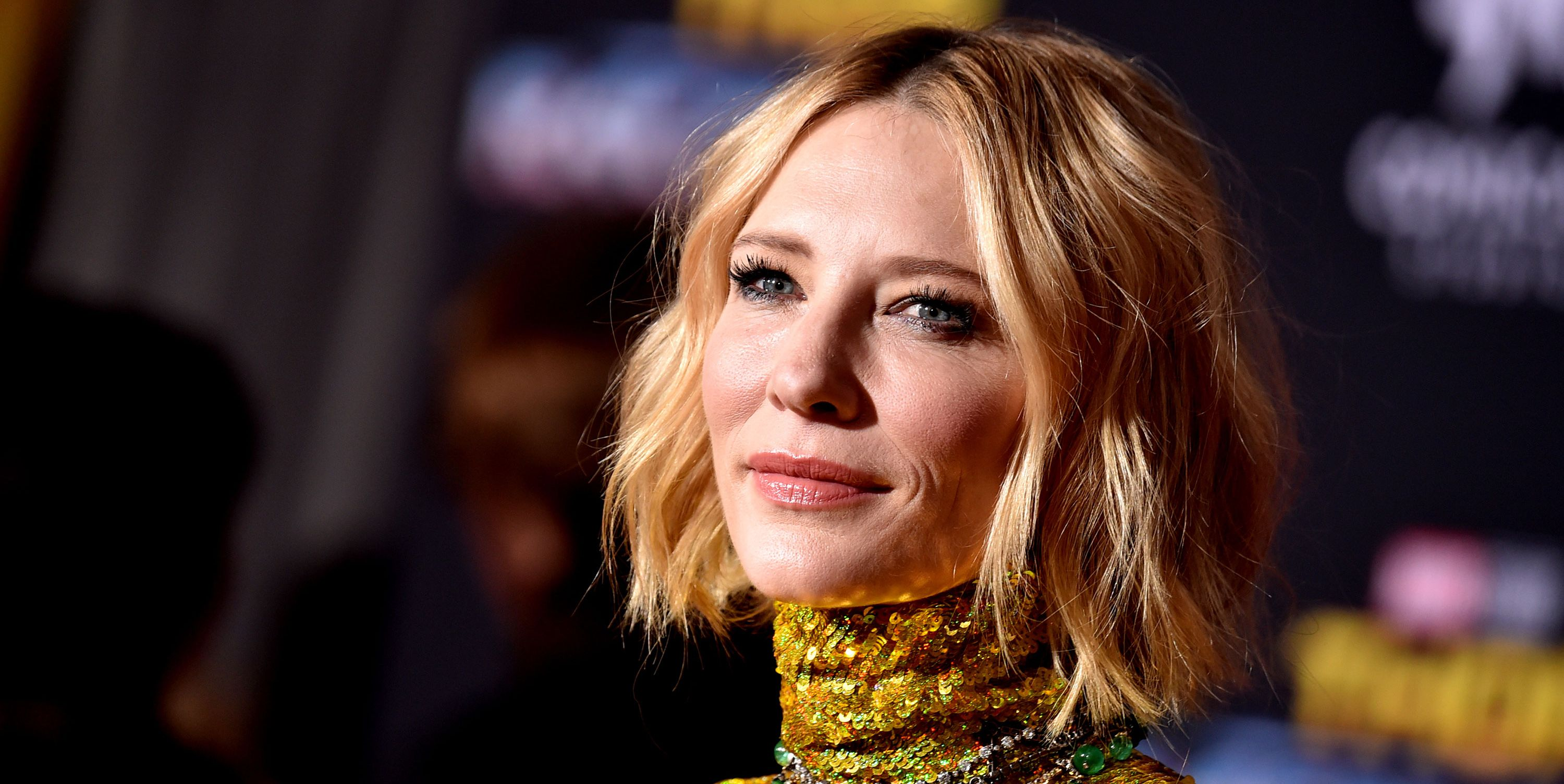 Cate Blanchett at Thor premiere wearing gucci
