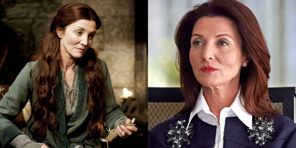 Michelle Fairley After her stint on Game of Thrones (during which she played Catelyn Stark) , Fairley guest-starred on Suits , alongside Prince Harry's wife, Meghan Markle.