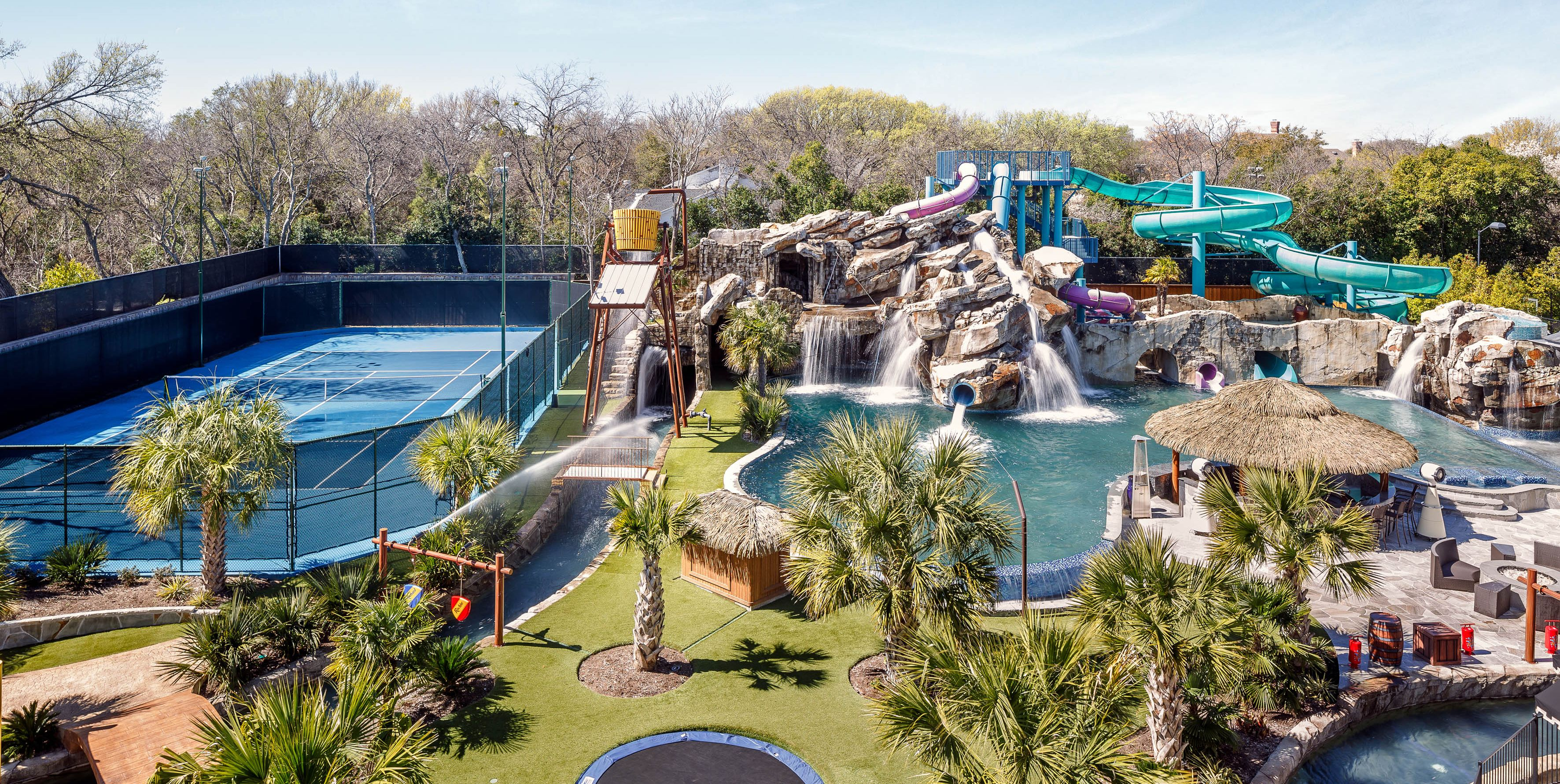 Water Slide In Backyard good news — this mansion with an unreal, private backyard water park