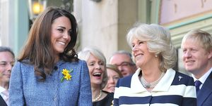 Queen Elizabeth II, Camilla, Duchess Of Cornwall And kate middleton Catherine, Duchess Of Cambridge Visit Fortnum & Mason Store