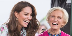 The Duchess Of Cambridge en Mary Berry bij het Back to Nature Festival