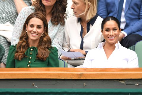The Duchess of Cambridge and Duchess of Sussex look summery for day out at Wimbledon