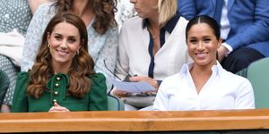 Kate Middleton en Meghan Markle bij Wimbledon 2019