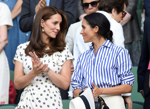kate middleton and meghan markle at wimbledon in 2018