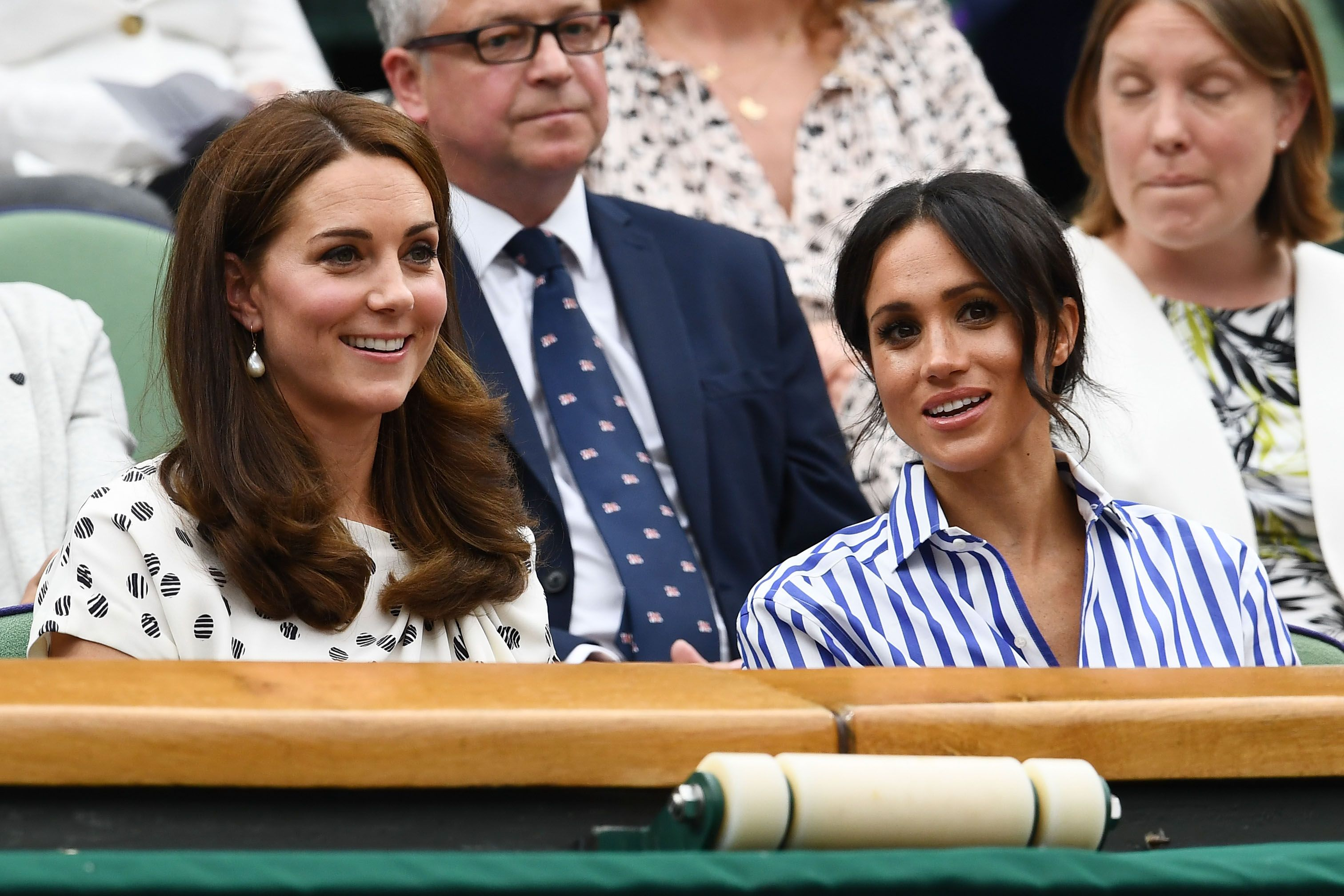 a05f0d4c8d1a Kate Middleton Polka-Dot Dress to Wimbledon 2018 - Duchess of Cambridge  Watches Serena Williams