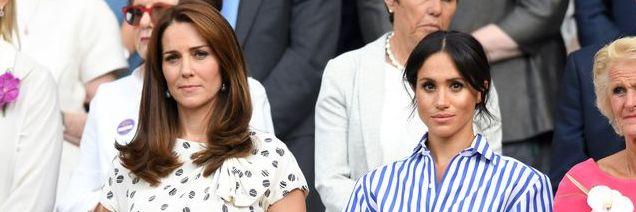 Kate Middleton dan Meghan Markle dikabarkan memiliki hubungan yang kurang baik (dok. Elle)