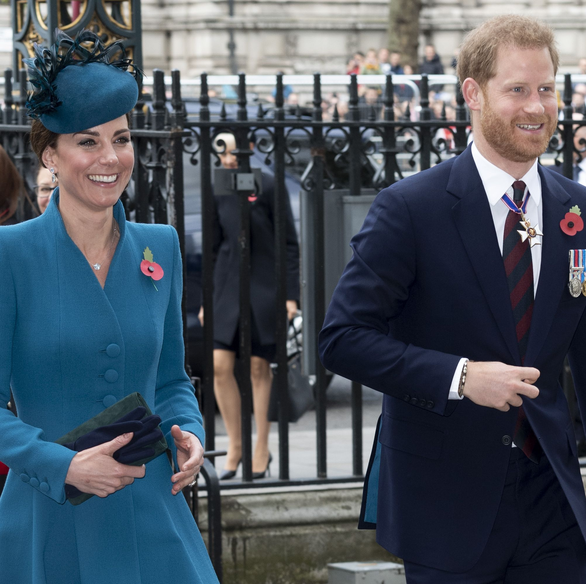 The Duchess of Cambridge steps out looking stunning in teal at Westminster Abbey
