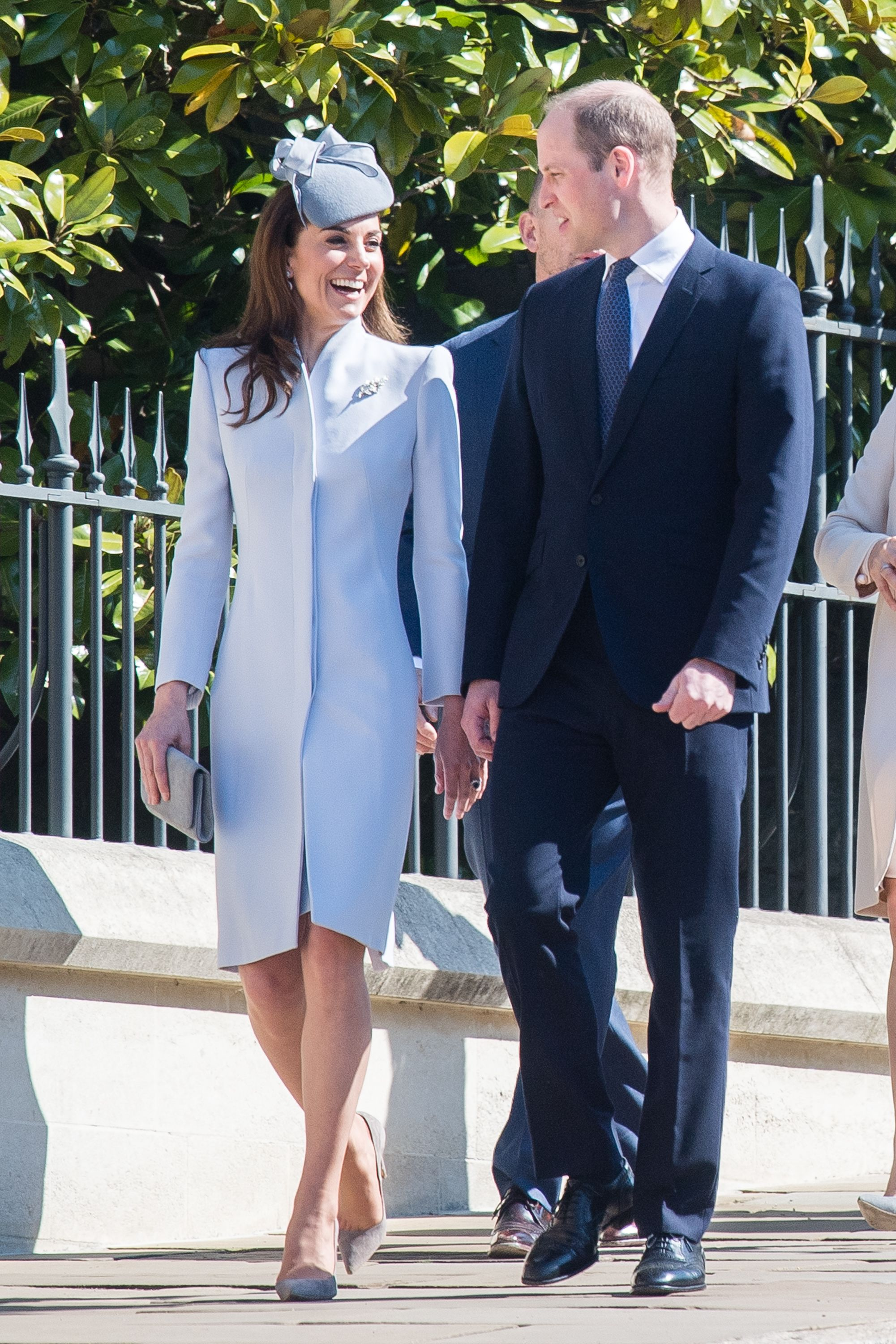 3a6dc36b4 Kate Middleton Stuns in Baby Blue Ensemble at Easter Sunday Service on the  Queen s Birthday