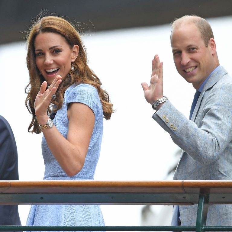 Kate Middleton Wears Baby Blue for Wimbledon Outing with Prince William
