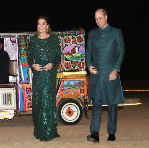 Kate Middleton Wears A Jenny Packham Gown At Pakistan Reception