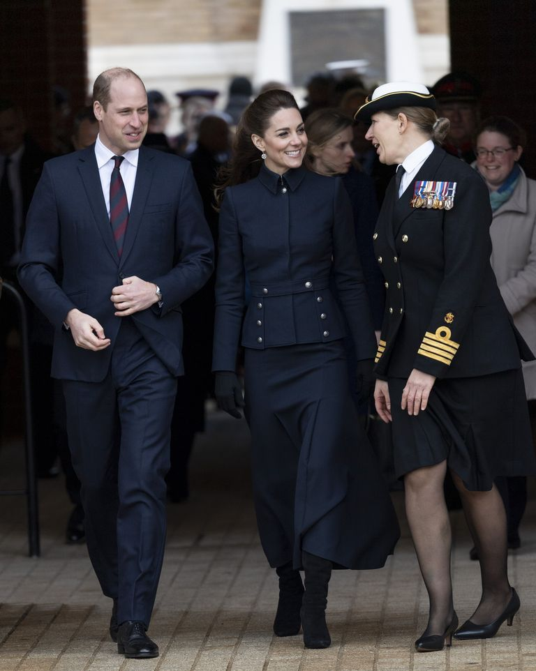 Kate Middleton Steps Out in a Chic Military-Inspired Jacket and Skirt