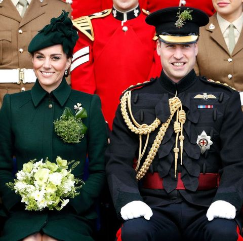 prince william kate middleton st patrick's day parade irish guards