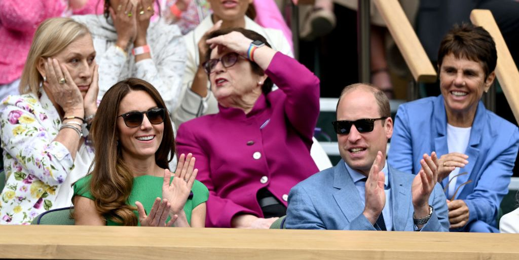 Kate Middleton Wears Green Dress at Wimbledon with Prince William