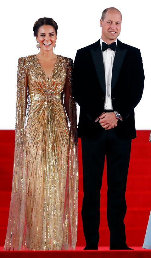 kate middleton y guillermo de inglaterra vestidos de gala en el royal albert hall de londres