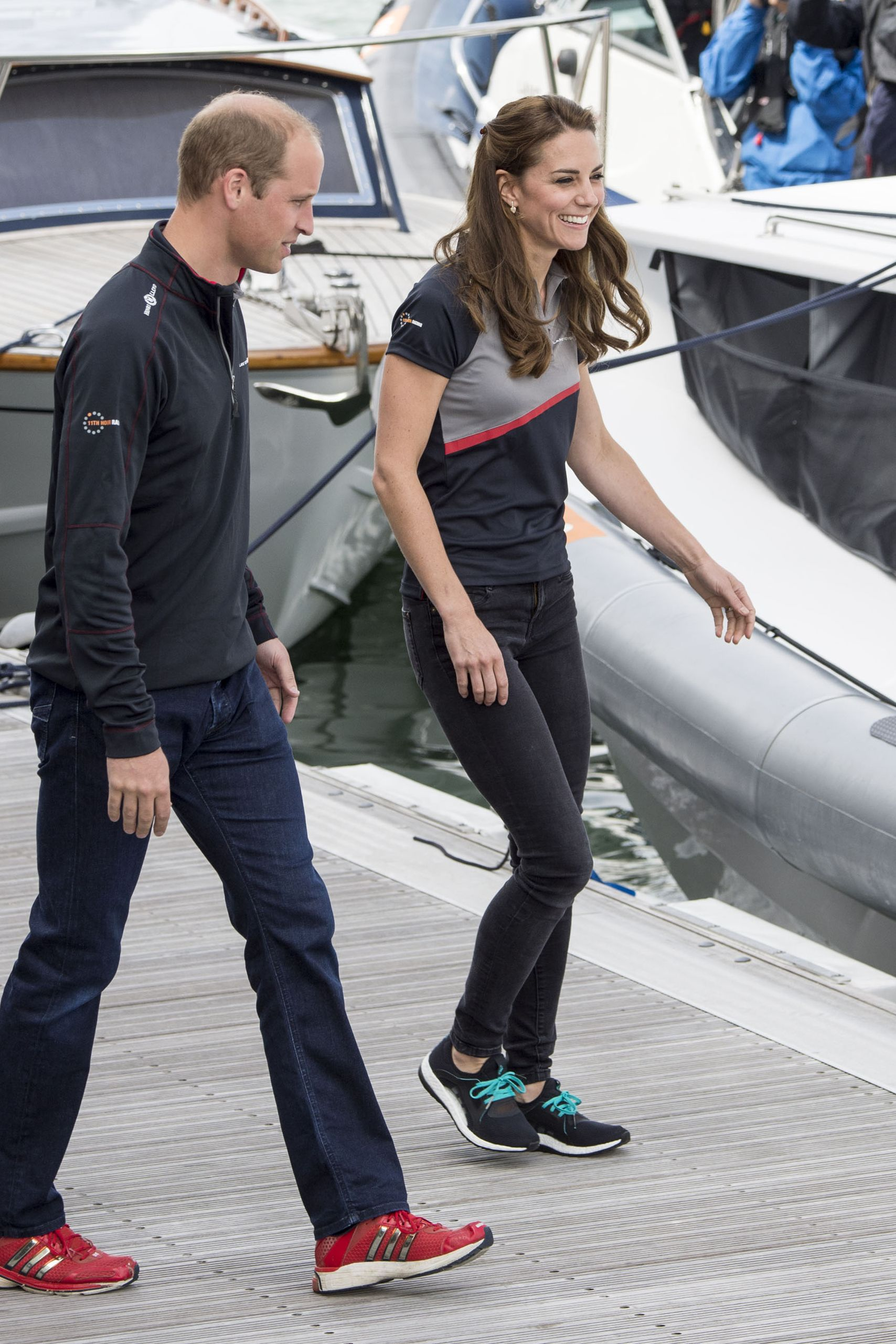 Shop Now Adidas Pureboost X Running Shoes, $120 Kate wore another pair of sneakers—Adidas this time—to the America's Cup World Series on July 24, 2016 in Portsmouth, England.
