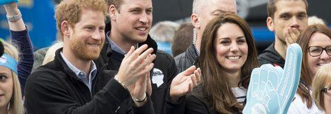 The Duke & Duchess Of Cambridge And Prince Harry Attend The Virgin Money London Marathon