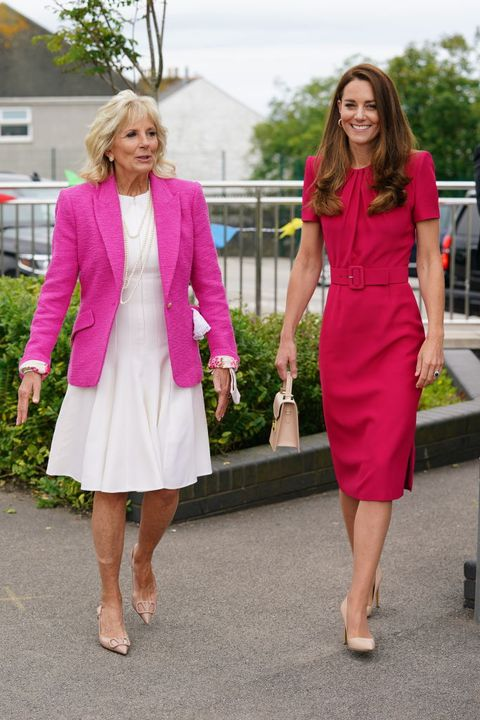 the duchess of cambridge and dr jill biden visit a primary school in cornwall