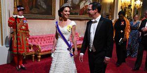 kate middleton alexander mcqueen lover's knot tiara state banquet donald trump